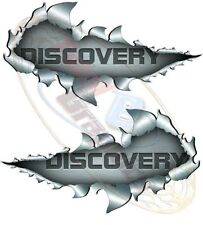 Medium Size Discovery Metal Rip Open Sticker 4X4 Race Car Truck Van Off-Road