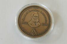1996 SAMUEL CROCKER LAWRENCE FAMOUS MASONS BRONZE MEDAL NORTHERN MASONIC JURISD.