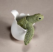 """TIPSY TURTLE "" New mobile Statue by JOHN PERRY First Edition Green shade"