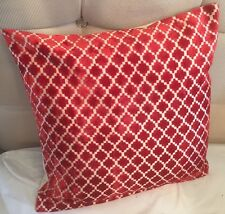 HOME DECOR MOROCCAN PATTERN MODERN CHENILLE RED CUSHION COVERS 43 X 43 CMS