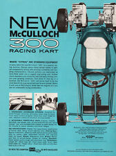 New!  Vintage Beautiful Color 1962 McCulloch 300 Racing Go-Kart Ad