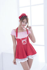 Lolita Japanese School Girl Maid Halloween Costume Uniform Cosplay Fancy Dress