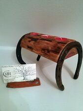 RUSTIC HORSESHOE AND CEDAR TRIPLE TEALIGHT CANDLE HOLDER!!!  LOG CABIN DECOR!