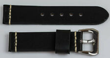 Genuine leather VINTAGE THICK TOUGH watch strap band 18mm-24mm black tan brown