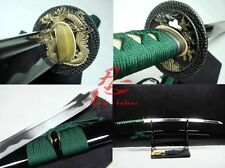 hand forged japanese samurai katana golden dragon tsuba sharpened blade sword