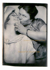 Forced Lesbian Kiss Photobooth 1940s / 1950s Photo booth