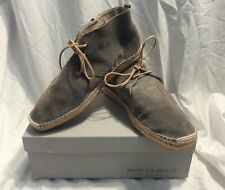 DCaged Mon Suede Chukka Boots Grey Espadrille Mens Size 10 Shoes Brand New NIB