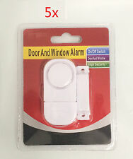 5 Sets Window Door Entry Wireless Burglar Security Alarm Magnetic Sensor Hot