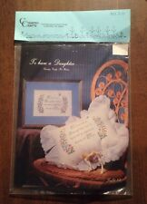 """Country Crafts New Cross Stitch Kit """"To Have A Daughter"""" Pat Waters No. K-59"""
