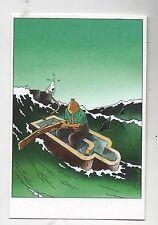 Carte Postale Tintin par Pascal SOMON. Tintin dans le sarcophage. Tirage limité