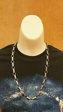 """Native American Handmade Navajo Chain Necklace - 24"""" - Sterling Silver"""
