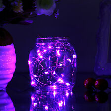 7ft/2m 20LEDs Copper Wire 3-AA Battery Powered Starry Fairy String Lights Purple