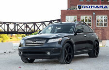 22x9 +35 22x11 +45 Rohana RC22 5x114 Black Rims Fit Infiniti Fx35 2008 Staggered