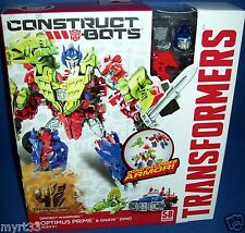 TRANSFORMERS DINOBOTS OPTIMUS PRIME & GNAW DINO construct bots Build NEW