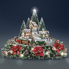 THOMAS KINKADE LIGHTS & SOUNDS ANIMATED CHRISTMAS  FLORAL HOLIDAY DECOR  NEW