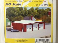 Pikestuff HO Scale Red Fire Station Building Kit NEW 541-0192