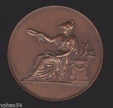 """French Bronze """"Greek Statue"""" Education Medal, BRENET 1948 - Really RARE - M.19a"""