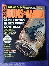 GUNS & AMMO - BOLT ACTION MACHINE GUN - FEB 1973