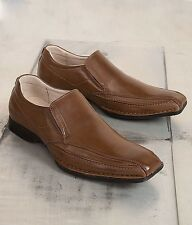 New Men's Madden South Tan Leather Slip On Dress Shoes From The Buckle - Size 12