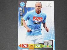 INLER NAPLES NAPOLI UEFA PANINI CARD FOOTBALL CHAMPIONS LEAGUE 2011 2012