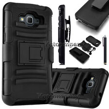For Samsung Galaxy Core Prime Prevail LTE G360 Black Armor Stand Case Holster