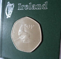 1970 Republic of Ireland Eire Irish 50p Fifty Pence Coin (UNC) Gift in Display