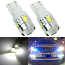 New Super Bright 2X T10 W5W 6 5630-SMD LED White Light Car Auto Lamp Bulb 12V