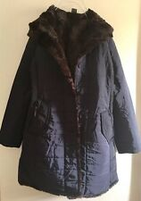 New Without Tag Korean Brand Women's Winter Fleece Lined Hooded Jacket Navy S/M