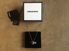 DSQUARED² 925 SILVER BANANA CAMERA & SUNGLASES TRIPLE CHARM CHAIN BALL NECKLACE