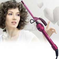 Mini Single-tube 9mm Tourmaline Ceramic Curling Iron Wand Pear Hair Roller Tool