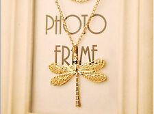 XXL 68cm Libelle Libellenkette Kette Halskette Farbe Gold  Neu 1174