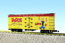 USA Trains G Scale U.S. REEFER CAR R16443 Popeye Root Beer –Yellow/Red