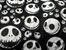 Fat Quarter Peluche Nightmare Before Christmas Jack Black Tessuto in Policotone Stampa
