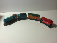 "HALLMARK USA KEEPSAKE: ""XMAS SKY LINE SET OF 4 RAIL-ROAD ORNAMENTS"" FROM 1992"