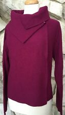 Chico's 100% Boiled Wool Berry Purple Cardigan Sweater Jacket 3 = 16 18 NEW
