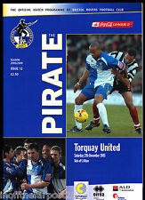 2005/06 BRISTOL ROVERS V TORQUAY UNITED 17-12-2005 League 2