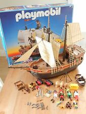 PLAYMOBIL PIRATE SHIP 3053 PLAYSET RETIRED RARE WITH BOX 1996 INCOMPLETE