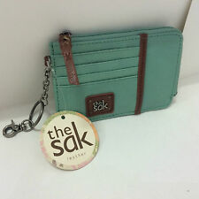 NEW ARRIVAL! THE SAK IRIS SEASCAPE GREEN ID CARD LEATHER COIN PURSE WALLET $38