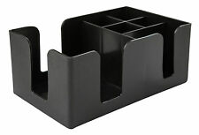 Bar Caddy Aide Organiser Black for Straws Napkins Storage Unit Pub Bar Tidy