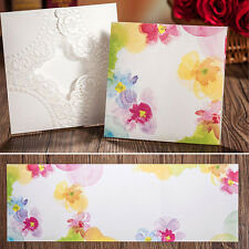 Personalised Laser Cut Lace Wedding Invitation Card Favor Handmade Envelope H06