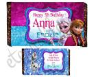 Personalised Kids Chocolate Bar Wrapper Favours Sweets Gifts (Anna & Elsa 2)