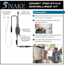 SNAKE Quick Release Ipod-Style Headset for Motorola XPR3000 XPR3300 XPR3500