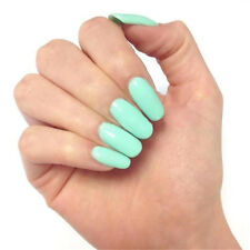 Perfect Summer UV Nail Gel Polish Soak Off Nail Art Shiny Mint Green Color #076