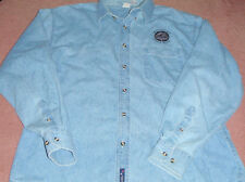PORT AND COMPANY Denim Jeans Long Sleeve Top Size L~Monterey Bay Whale Watch