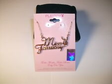 PLAYBOY TM February Amethyst birthstone Gold Tone NECKLACE Miss months