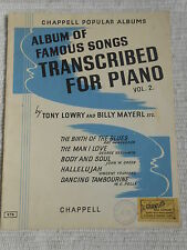 Vintage Songbook - Album of Famous Songs Transcribed for Piano Vol 2 - Chappell