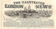 HL441 1850 NEWSPAPER Illustrated London News 'THE POST OFFICE QUESTION' Article