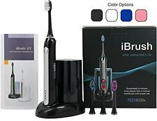 Ultrasonic Electric Rechargeable Toothbrush With UV Sanitizer Oral Care Black