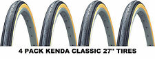 "4PACK 27"" KENDA K35 Gumwall 27 x1-1/4"" Road Bike Tires Pair Fixed Gear Classic"