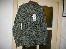 NEW BNWT MENS S SMALL CARHARTT FULLER SHIRT CAMO STAIN GREEN RINSED